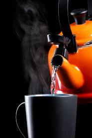 orange tea pot